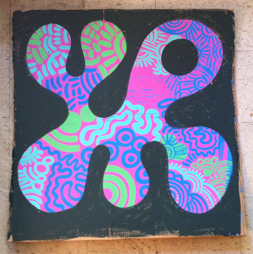 9)  3ft x 3ft on Cardboard