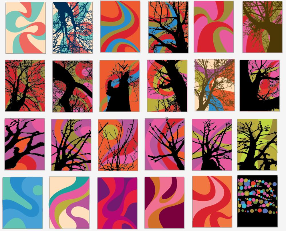 5. Digital layered color studies