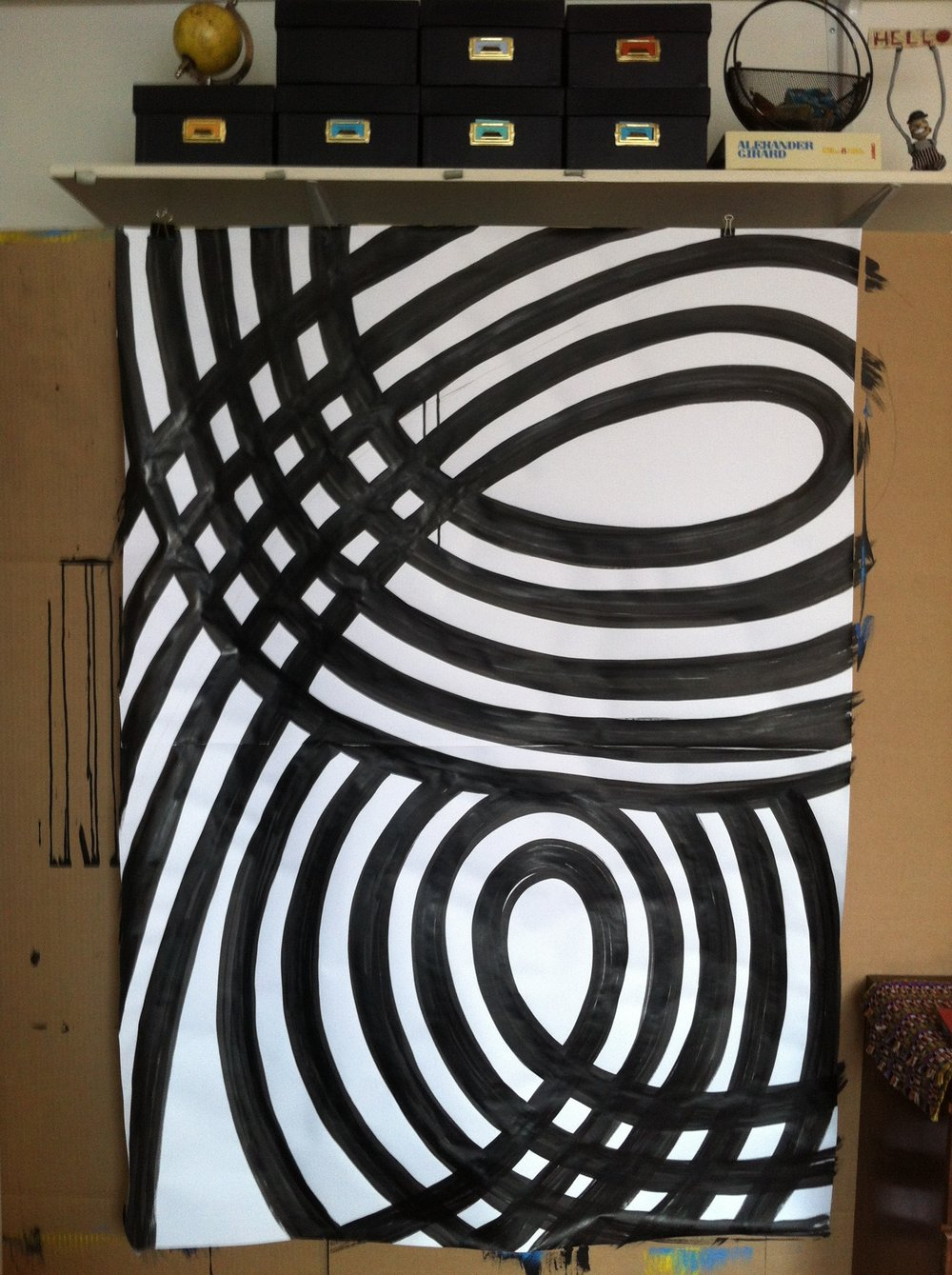 12. Ink on paper: Large 40x55in