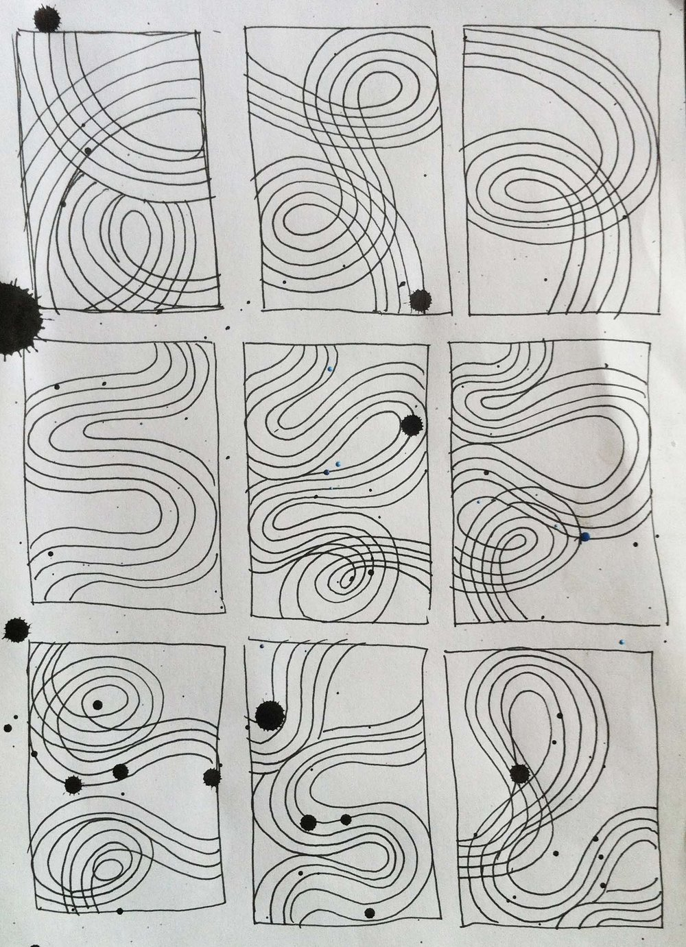 10. sketch for linear paintings