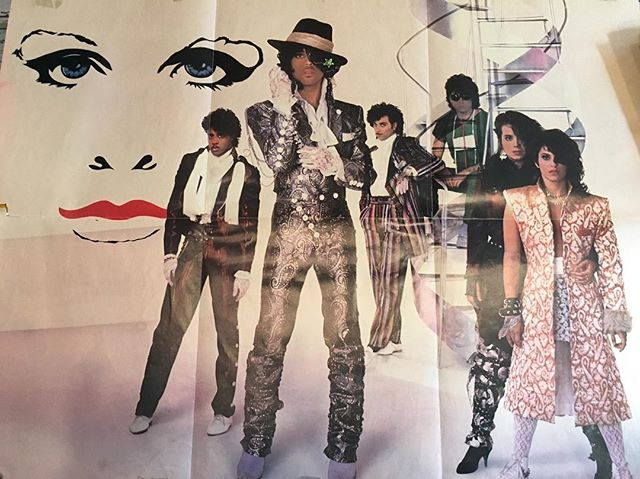 """shut up! Vintage Prince poster. Complete with the glitter stickers that it was hung up on the wall with in someone's 1980's bedroom.  28"""" X 22"""". Pretty solid condition. Say hi to Wendy and Lisa. $25 includes US shipping.  Click our PayPal link to purchase"""