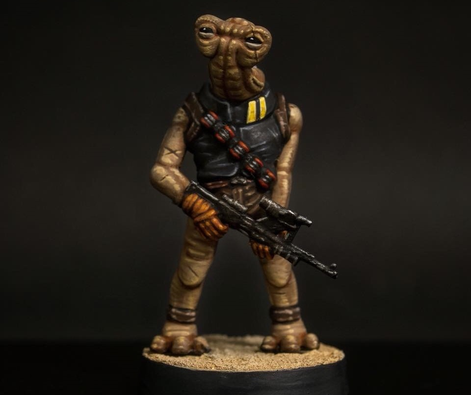 Ithorian Rebel Trooper  , printed and painted by  HVM Workbench