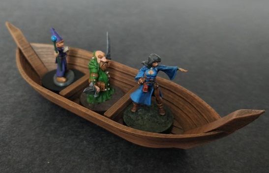Ferryman's Boat  , printed and painted by  Andrey Malenkov