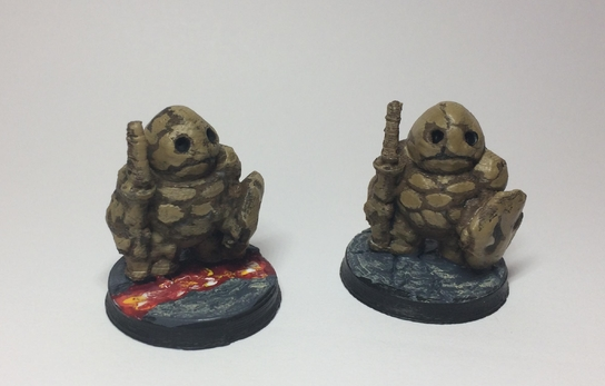Clod Soldiers  , printed and painted by  Lewis Terry