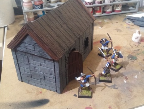 Z.O.D. Medieval House  , printed and painted by  Jorge Rodriguez Alvarez