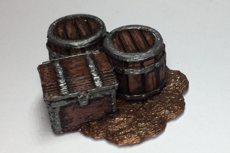 Fantasy Loot Markers  , printed and painted by  Lewis Terry