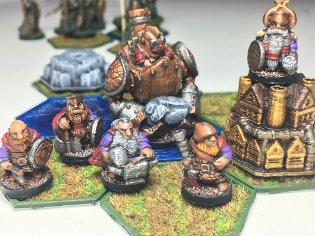 Pocket-Tactics Core Set 2  , printed and painted by  Julian Ernst