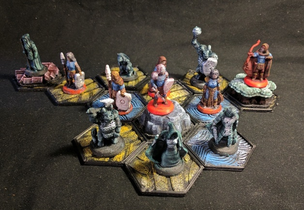 Pocket-Tactics Core Set 1  , printed and painted by  Bryce Barrand