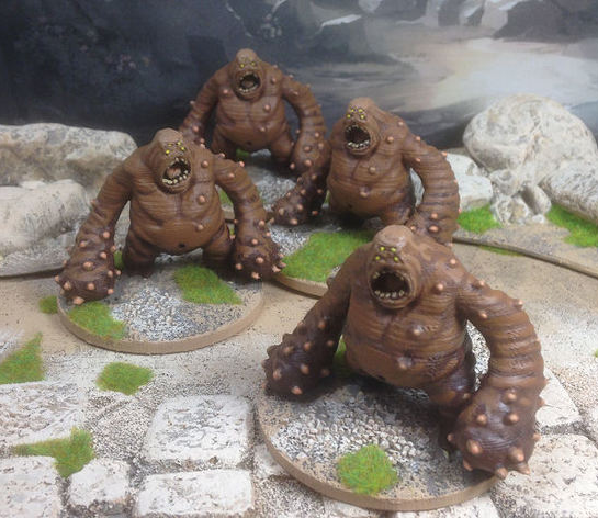 Cave Lurkers  , printed and painted by  Paul Ward