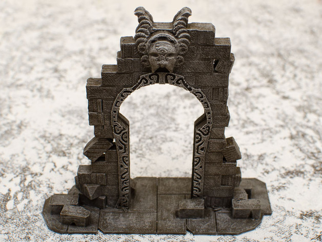 Arcane Gateway  , printed and painted by  Jennifer G