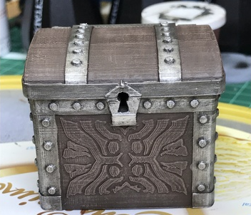 Dice Chest  , printed and painted by  Thomas Franz