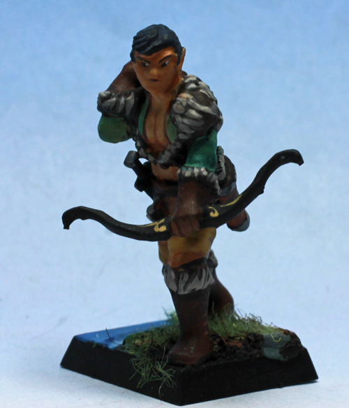 Wood Elf Archer   ,  printed and painted by  superbug983