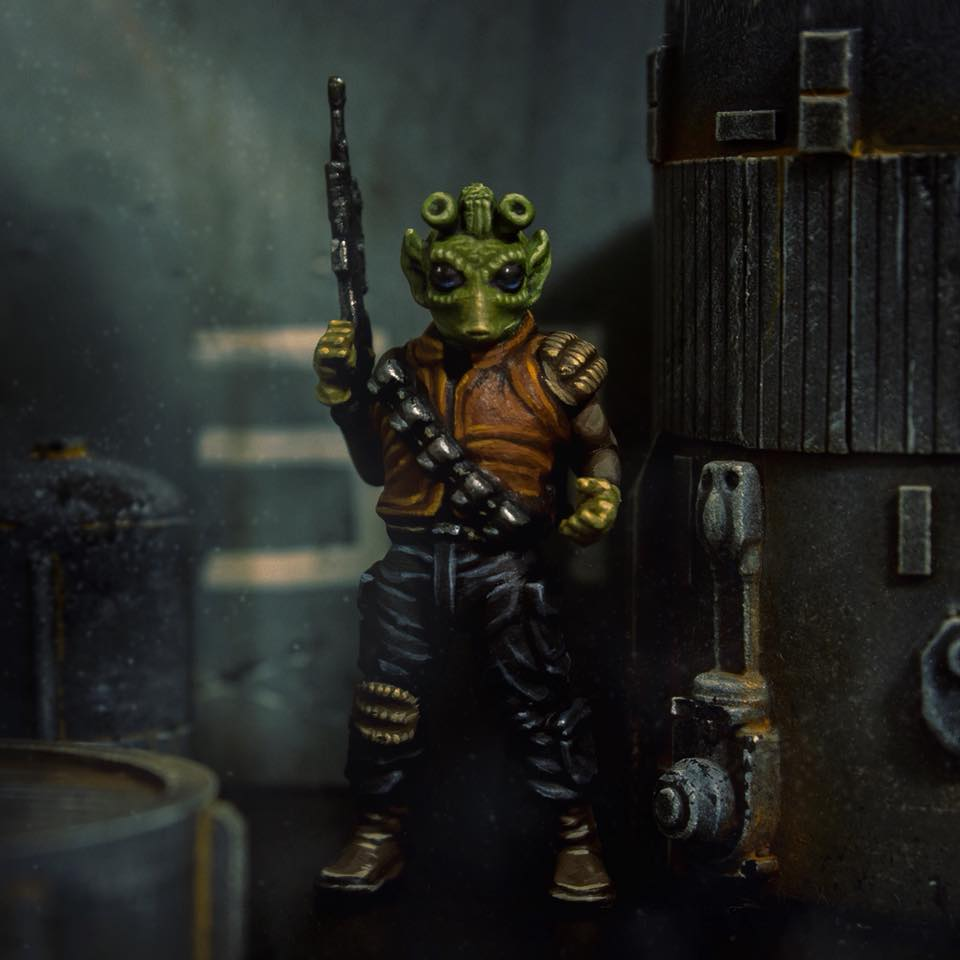 Rodian Scoundrel  , printed and painted by  HVM Workbench