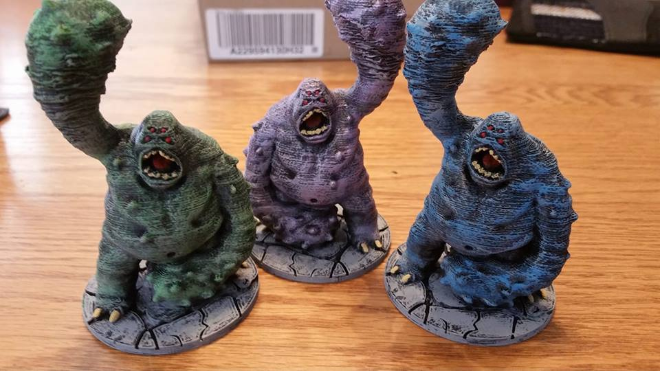 Cave Lurkers  , printed and painted by  Jim Pacek
