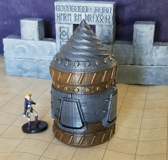 Dwarven Loamship (non-submerged)  , printed and painted by  David Frost