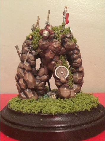 Battlefield Elemental , printed and painted by  Aaric Borst