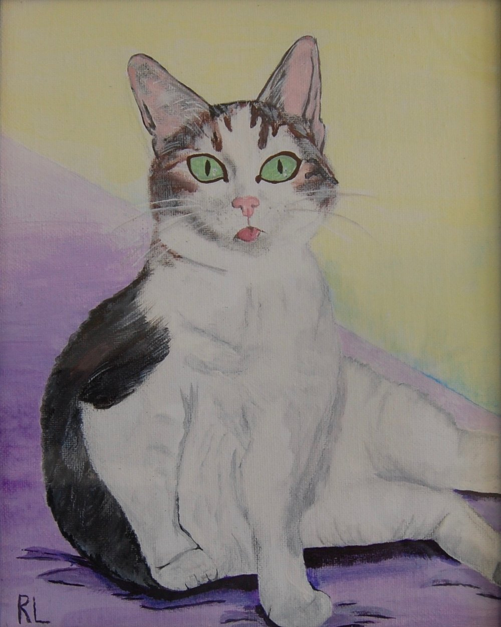 Adeline was also featured in our recent art show located at the Cat Town Cafe and her lucky adopter will also get to take home her likeness in a lovely art piece to commemorate the occasion.