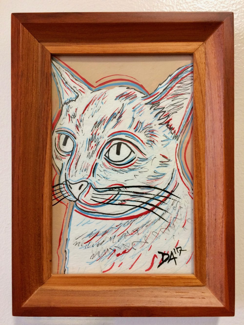 Oswald was also featured in our recent art show located at the Cat Town and his lucky adopter will also get to take home his likeness in a lovely art piece to commemorate the occasion.
