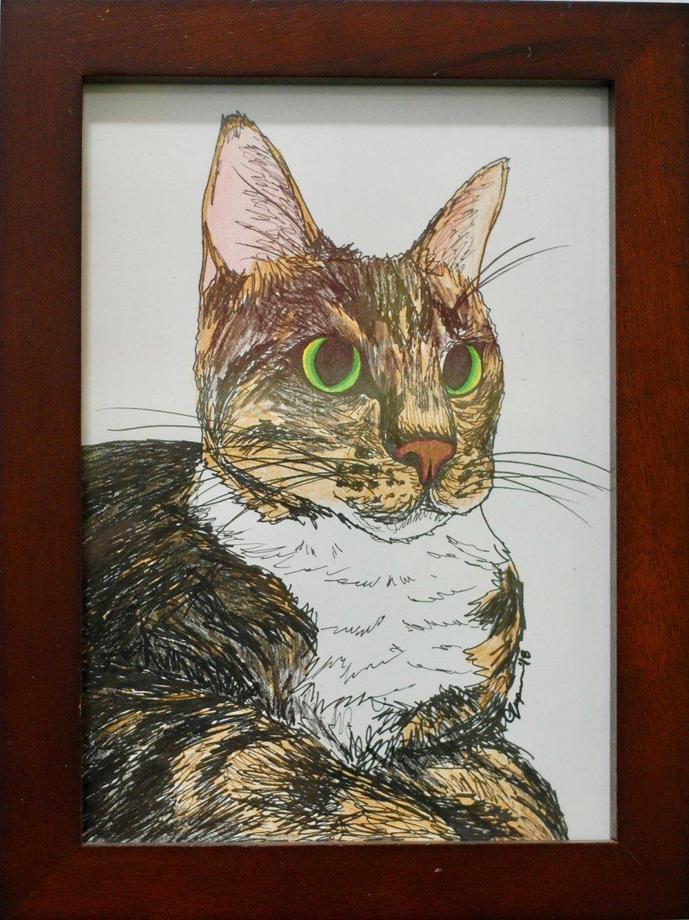 To help her find her family, Summer has been featured in our art show located at Cat Town. The piece has been donated by the artist and her lucky adopter will take home the piece to commemorate the occasion.