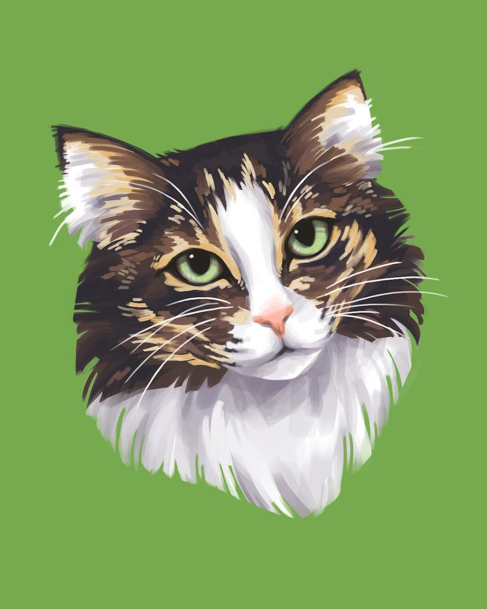 To help her find her family, Mini has been featured in our art show located at Cat Town. The piece has been donated by the artist and her lucky adopter will take home the original work to commemorate the occasion.