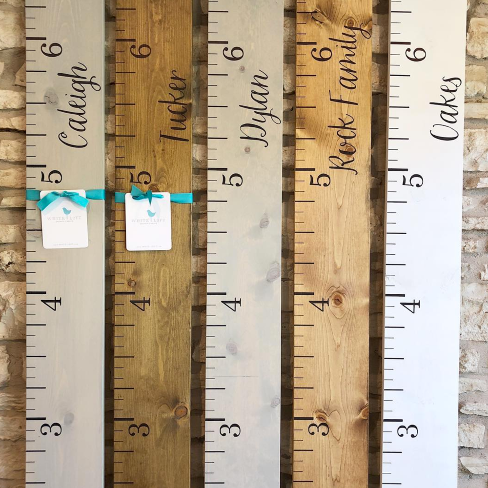 Custom Growth Charts - Shop White Loft