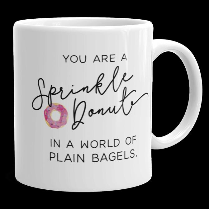 Sprinkle Donut Mug - Brittany Garner Designs