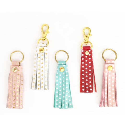 Leather Keychains - Baby Mama Sew Shop