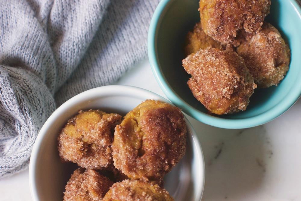 Gluten Free Pumpkin Spice Donut Holes