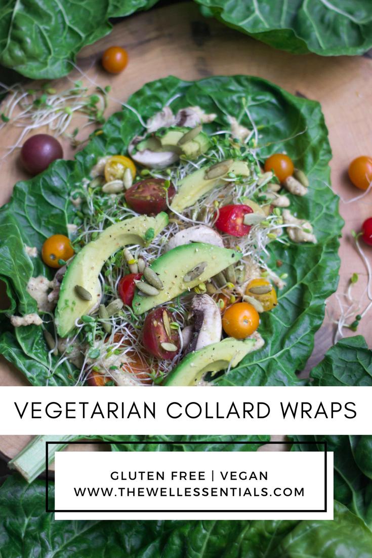 Vegetarian Gluten Free Collard Wraps