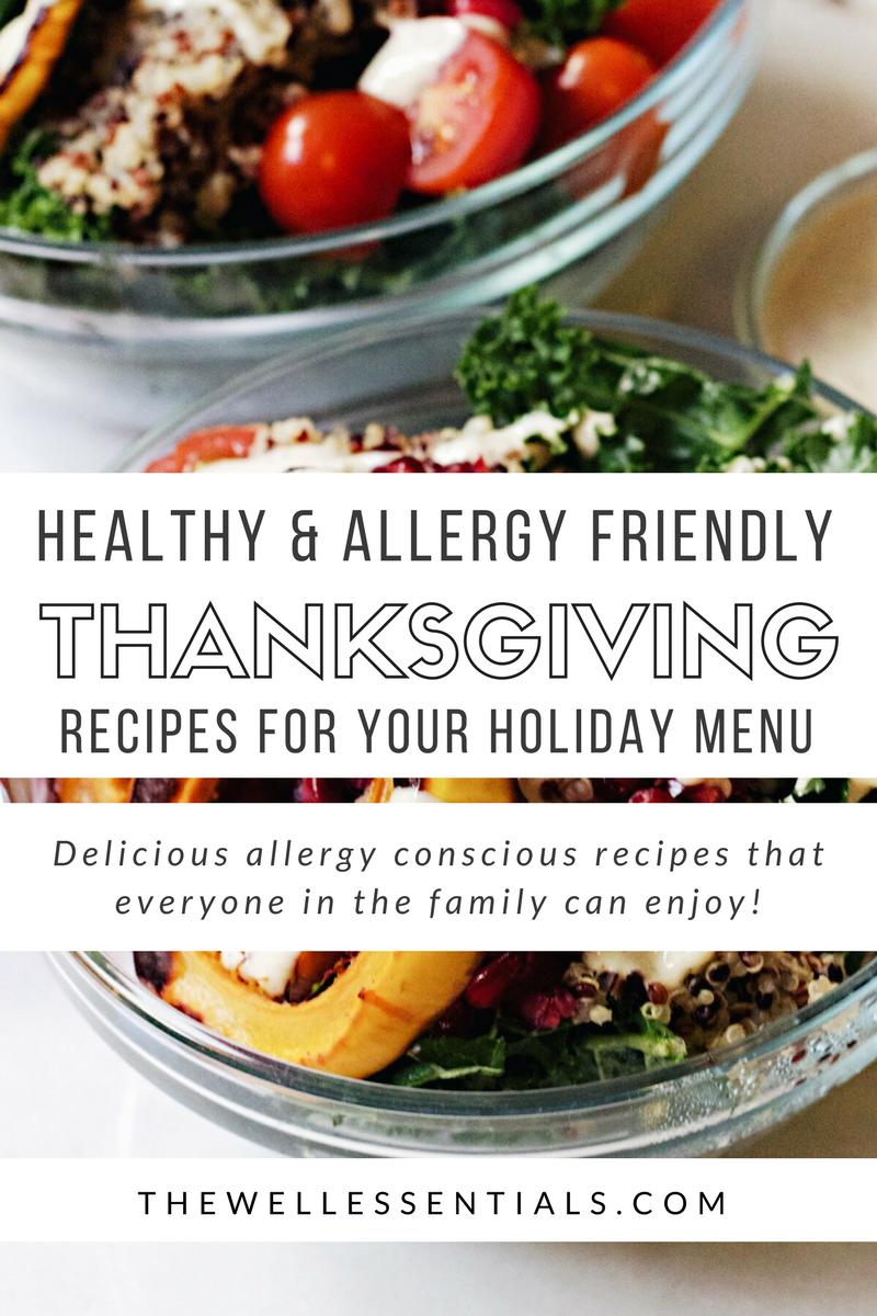 allergy friendly thanksgiving menu