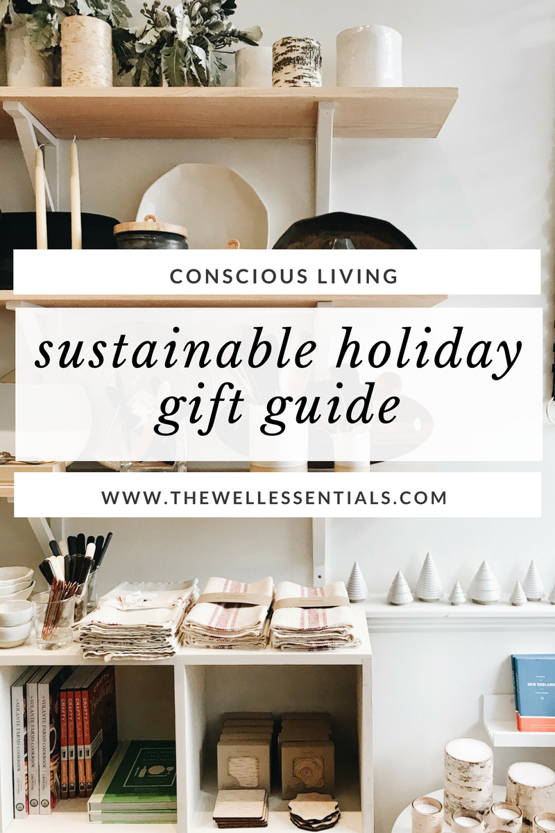 sustainable living holiday gift guide - the well essentials