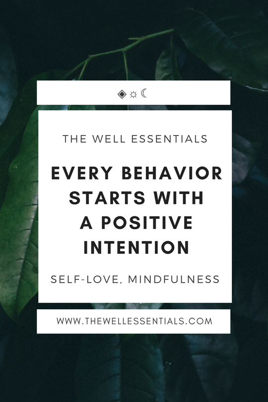 Every behavior starts with a positive intention - the well essentials