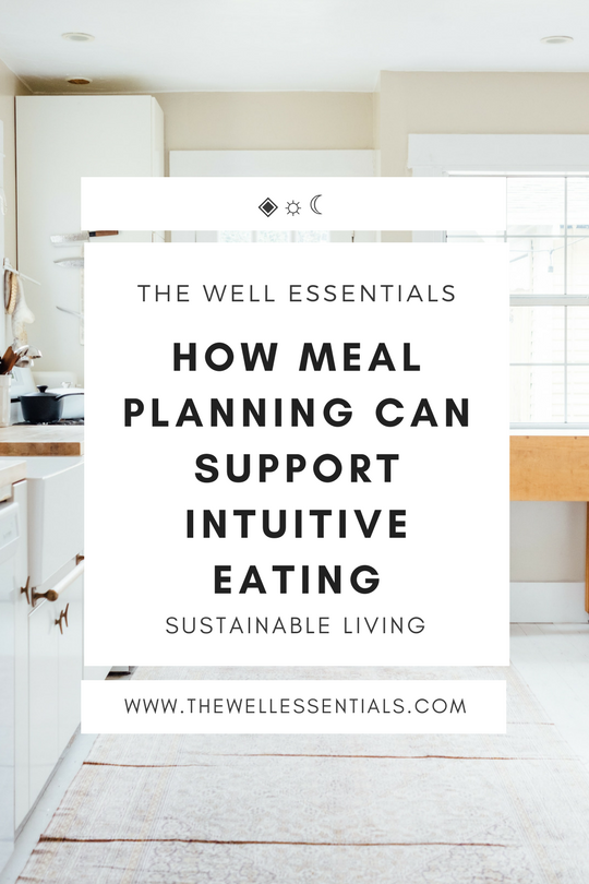 How Meal Planning Can Support Intuitive Eating - The Well Essentials