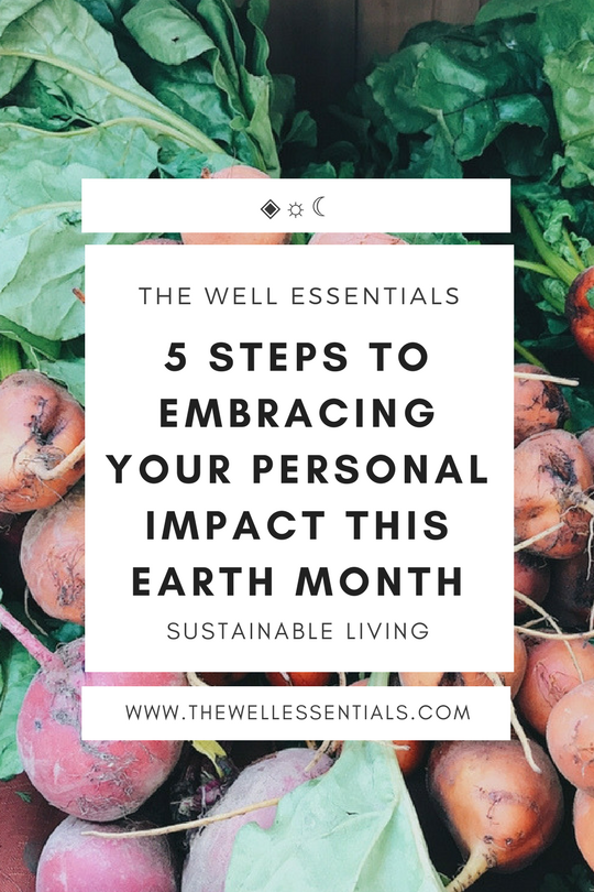 5 Steps To Embracing Your Personal Impact This Earth Month - The Well Essentials