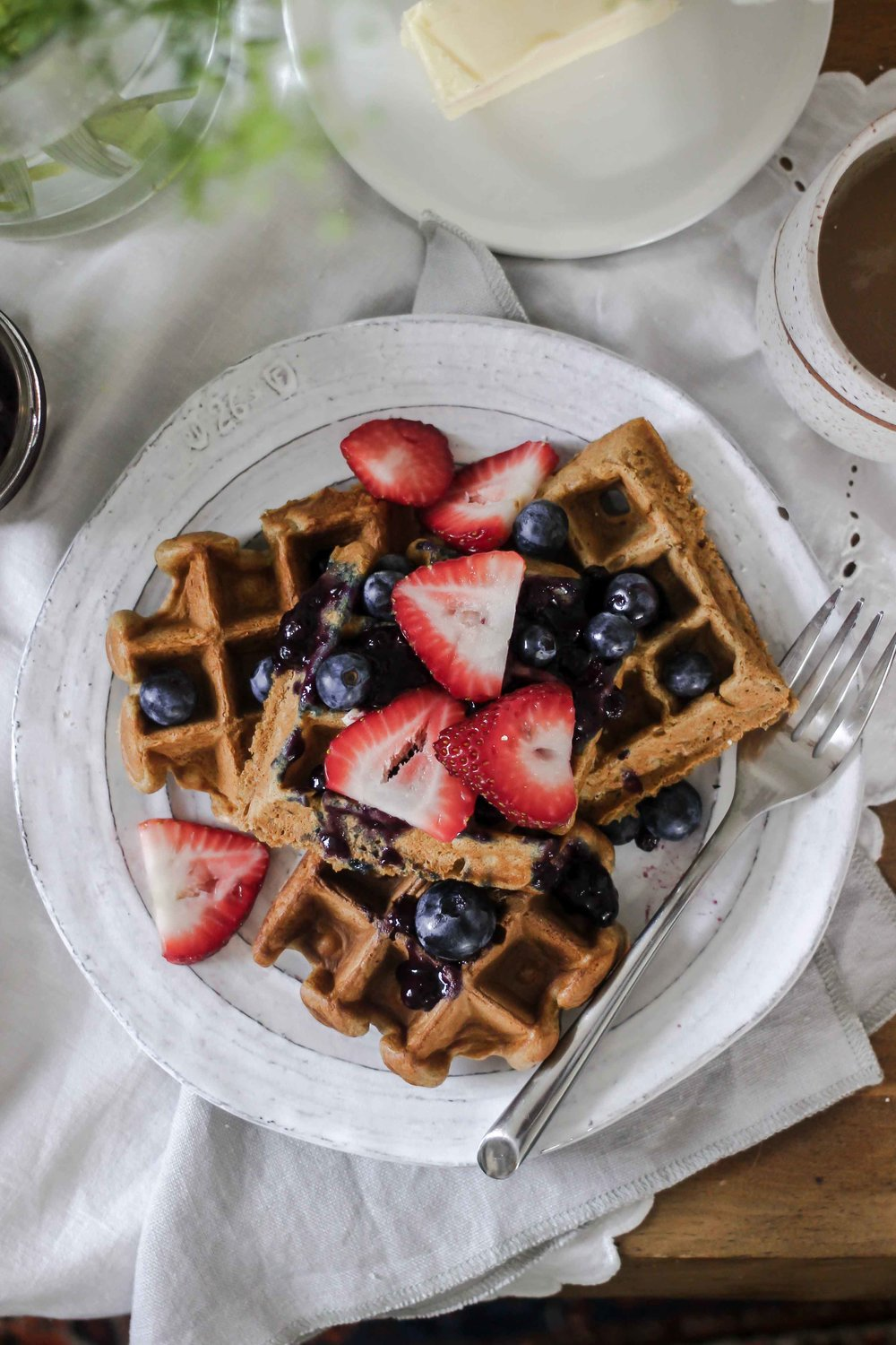 How To Prioritize Slow Living In A Fast Paced World + Fluffy Gluten Free Oat & Yogurt Belgian Waffles - The Well Essentials & Green Valley Organics