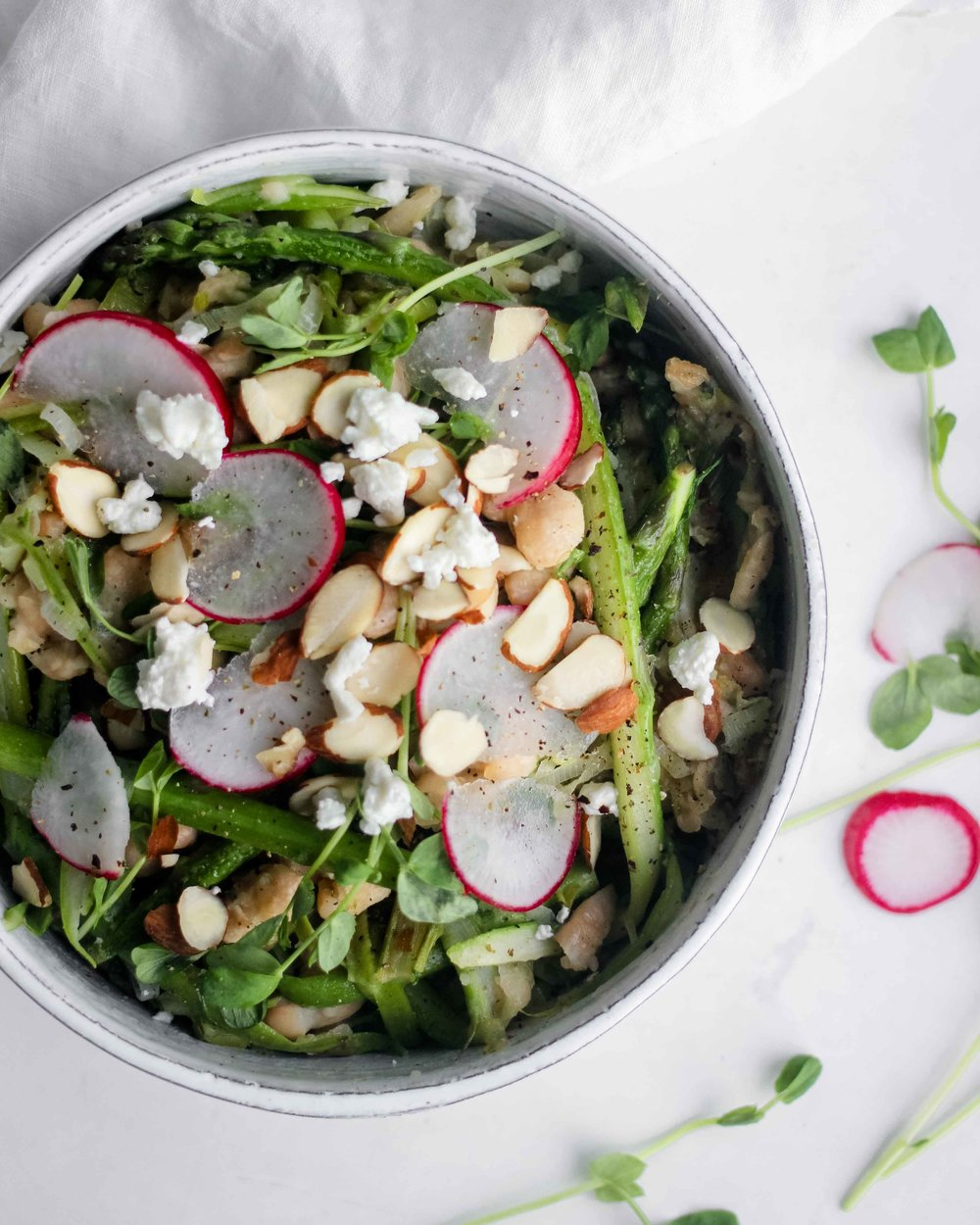 Shaved Asparagus White Bean Spring Salad - The Well Essentials