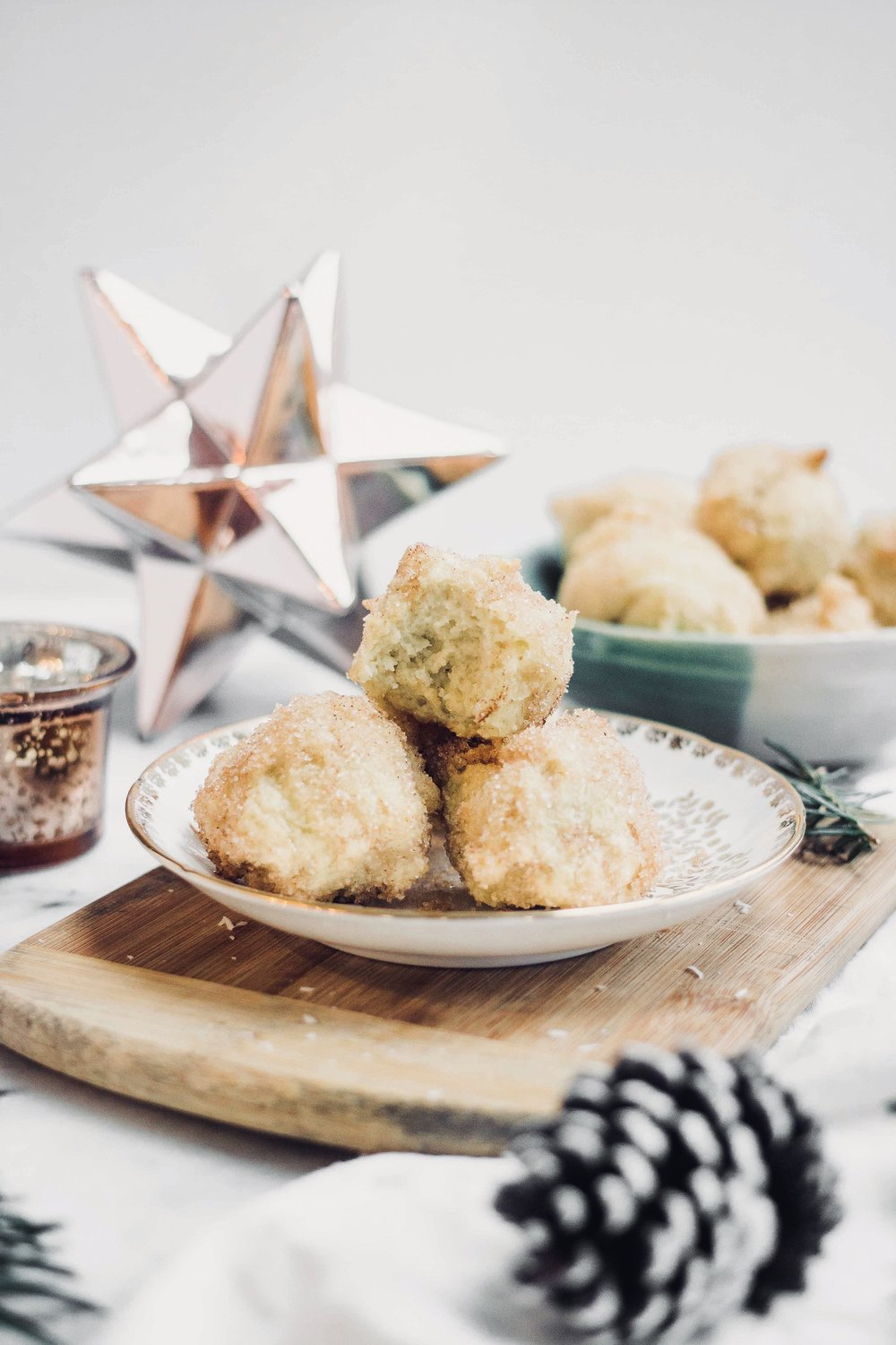 Gluten Free Sonhos Christmas Dreams - A delicious gluten free puffed pastry that is a traditional Portuguese dessert, and is especially popular around the Christmas table in Portugal during the holiday season #glutenfree #sonhos #portuguesebaking #portuguesechristmas