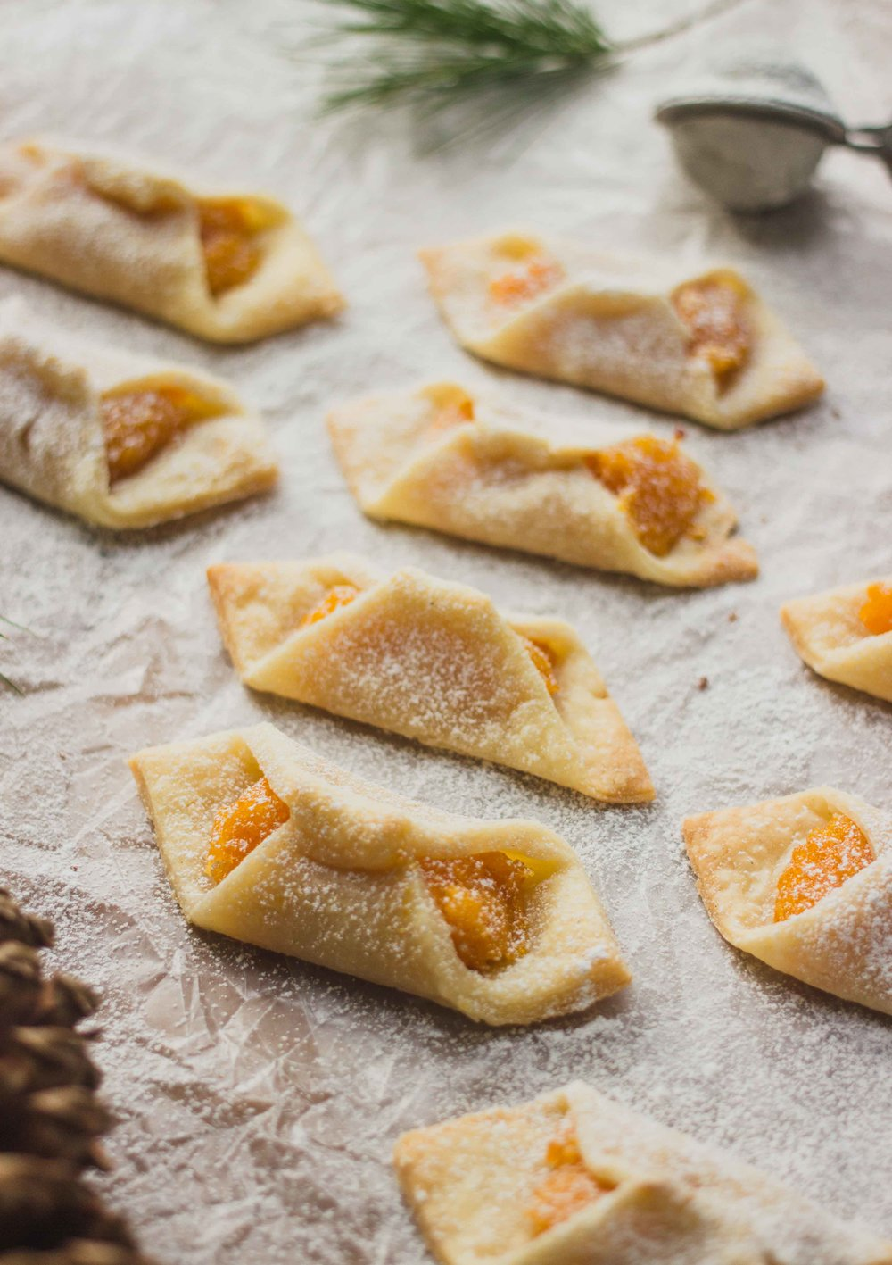 Polish Kolaczki Apricot Filled Cookies (Gluten Free) - The Well Essentials #poland #christmascookies #holidays