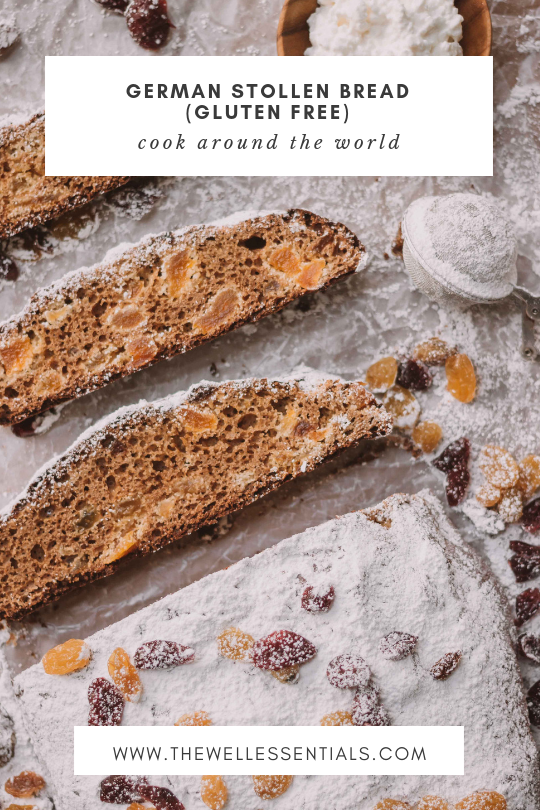 German Stollen Bread (Gluten Free) - The Well Essentials #glutenfree #german #stollen #holidayrecipes #christmasfood #christmas