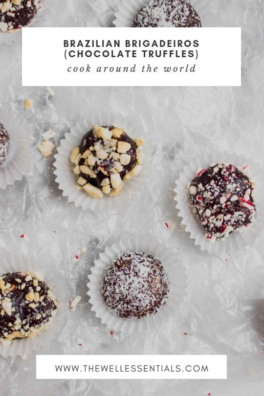 Brazilian Brigadeiro de Chocolate - Brazilian Chewy Chocolate Truffles - The Well Essentials #glutenfree