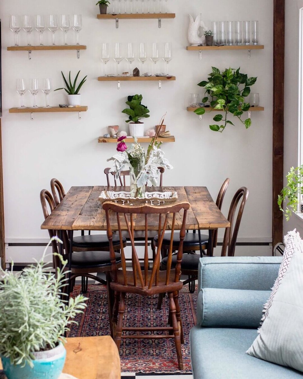 Sustainability Lifestyle and Vintage Home Decor - Farmhouse Dining Table - The Well Essentials