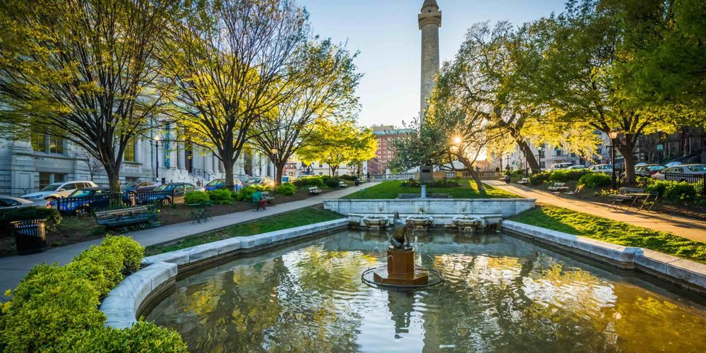 6 Best Neighborhoods In Baltimore Maryland - What To Do and See In Mount Vernon, Baltimore