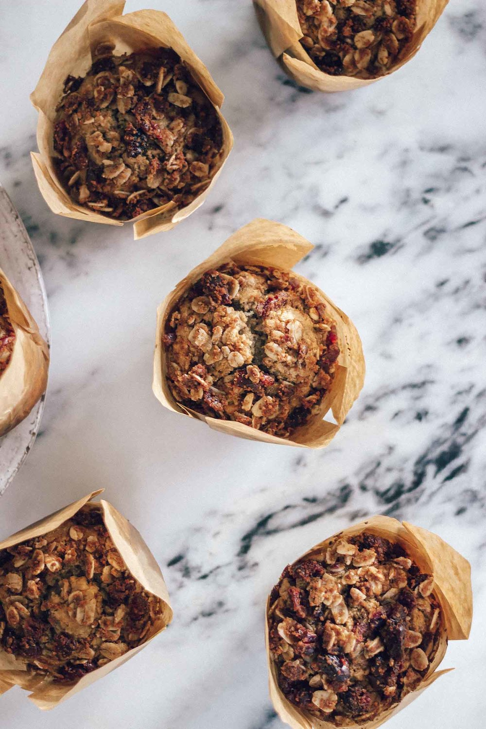 Seasonal Oatmeal Cranberry Muffins With Oatmeal Crumble Topping (Naturally Gluten Free)