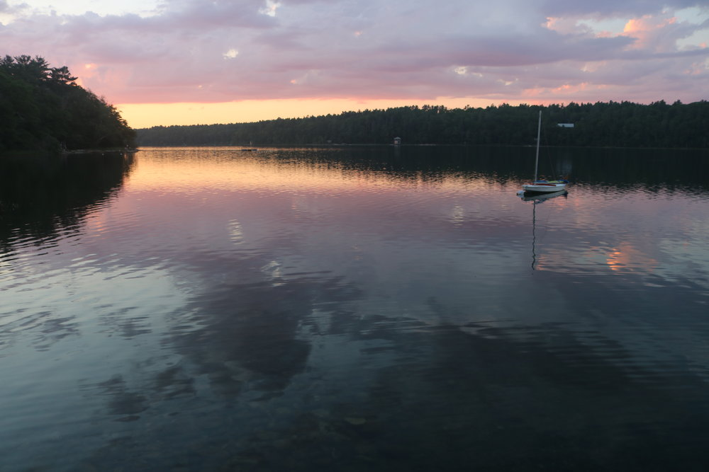 Sunset on Long Pond