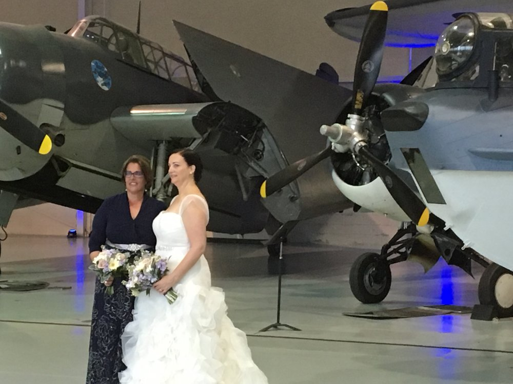Bride Mary at Military Aviation Museum.JPG