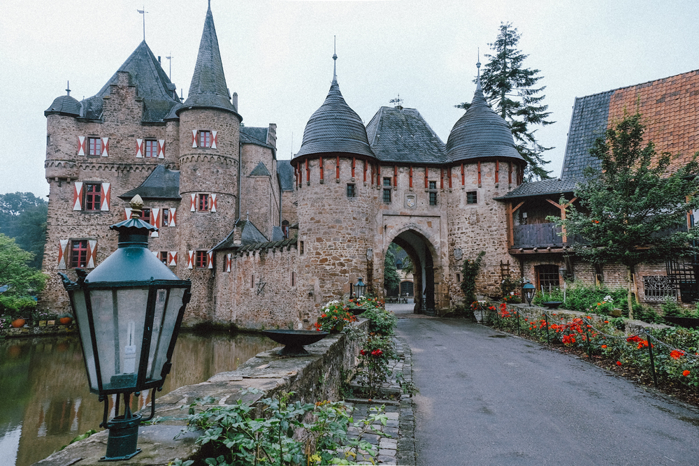 This charming castle is Burg Satzvey. Come here to tour the interior or enjoy a Ritterfestspiel (jousting tournament) during its' many medieval fairs held annually.