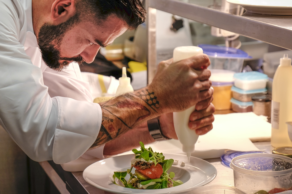 the private chef greek celebrity christos ioannidis hard at work at nagual