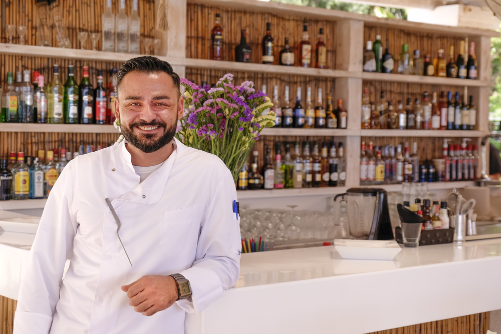 chef christos ioannidis modernizes greek food at nagual beach bar corfu