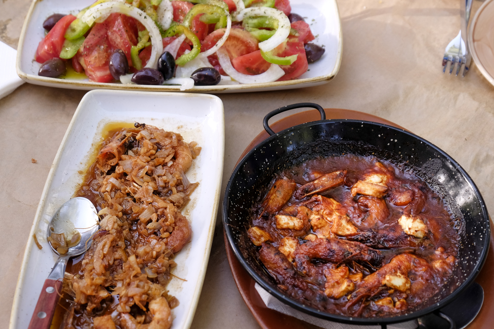 mezedes or meze from avli one of corfu town's best restaurants