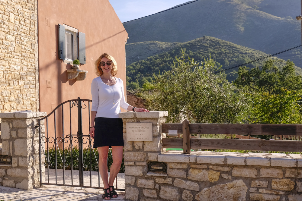 hotelier saskia bosch from the merchant's house in old perithia corfu